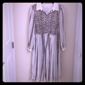 Lane Bryant Purple Leopard Print Dress 16